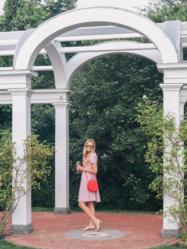 Style blogger, Leigha Gardner, of The Lilac Press showing how stripes are always in style in this Americana look.