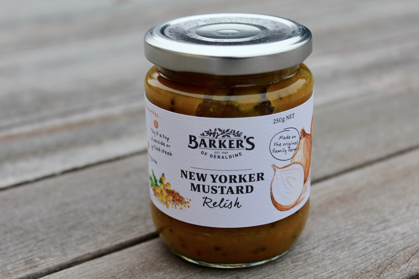 Barkers New Yorker Mustard Relish