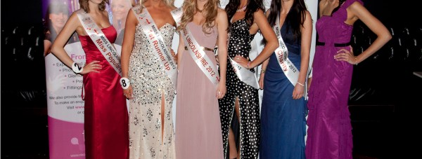 Miss Lincolnshire 2012, Siana Hemmings, with runners up Becky Collins and Jade Clay, Miss Popularity Eleanor Norman and Miss Charity Bethany Campbell.