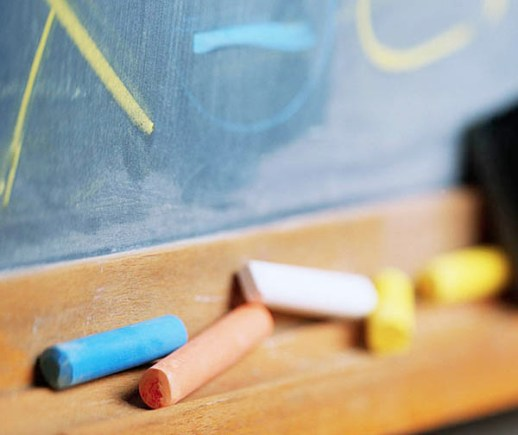 Colorful Chalk at Chalkboard