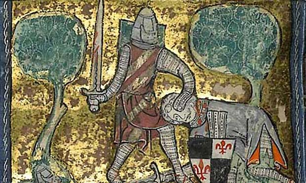 King Arthur depiction from a manuscript