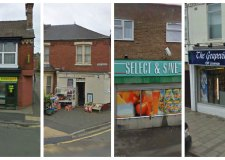 These four Lincoln shops were robbed at knife-point all within the same weekend. Photos: Google Streetview