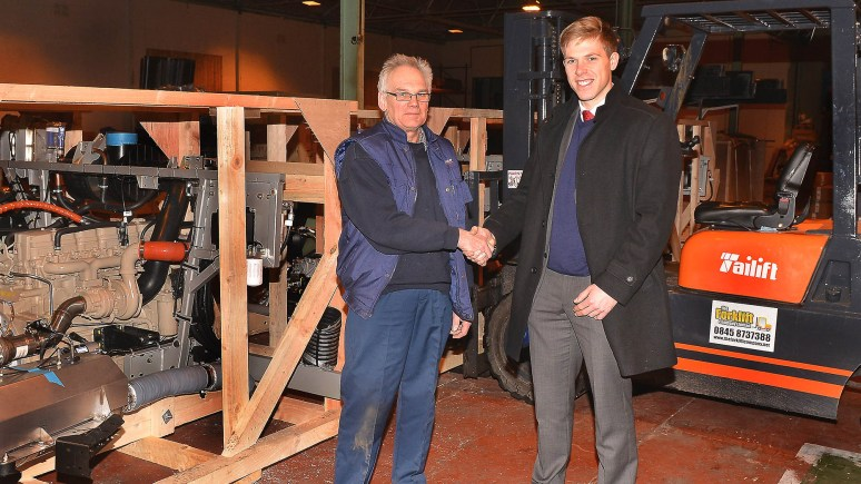 Vanguard Packing general manager Bill Towle with Banks Long & Co's Mark Spratley, who helped secure the lease of the new premises