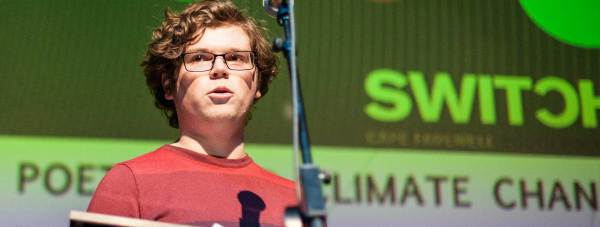 Jake Reynolds from Lincoln was one of the winners in the first SWITCH green poetry challenge