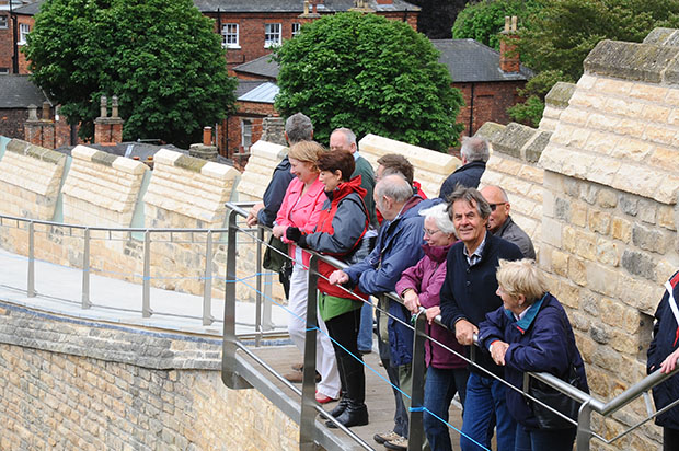 Over 700 people enjoyed the Castle Wall guided tours.