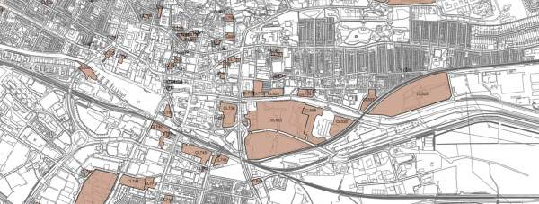 A view of proposed redevelopment sites in Lincoln.