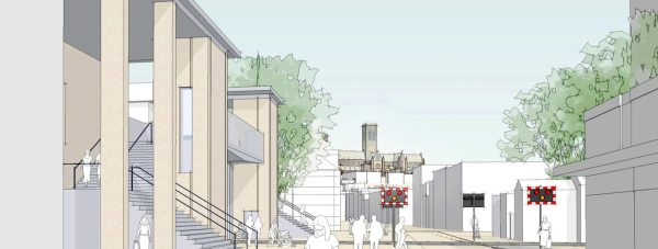 Proposed pedestrian footbridge over the Lincoln High Street level crossing