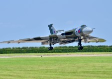 The Avro Vulcan performing at the Waddington Air Show. Photo Steve Smailes for The Lincolnite