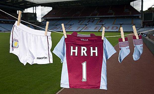 The Royal baby Aston Villa kit