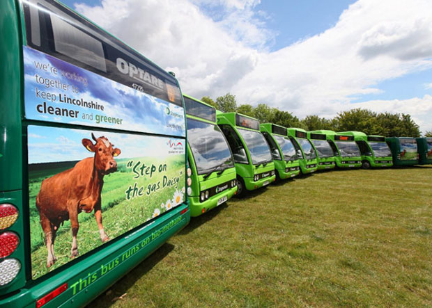 11 buses for Lincoln will be converted from dual-fuel technology (diesel and biomethane) to fully gas powered engines.