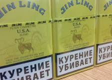 Jin Lings cigarettes, a brand recovered in the raids and one that does not meet EU requirements. Photo: Lincolnshire Trading Standards