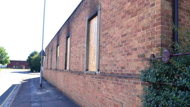 Smoke damage from the fire at the Croft Street community centre in Lincoln. Photo: Steve Smailes for The Lincolnite