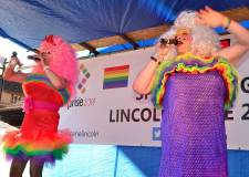 Drag performer at Lincoln Gay Pride 2013. Photo: Steve Smailes for The Lincolnite