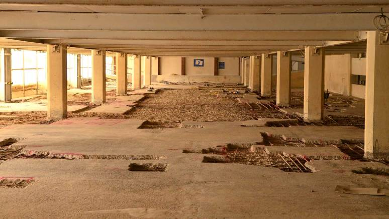 While undergoing repairs, Lucy Tower car park will be out of action until February 2014. Photo: Steve Smailes for The Lincolnite