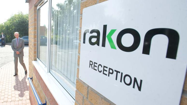 The Duke of Kent visited Rakon in Lincoln in September 2013. Photo: Chris Vaughan