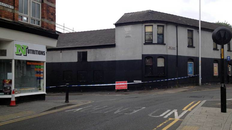 The area between Park Street and West Parade has been cordoned off following the incident on September 1, 2013.