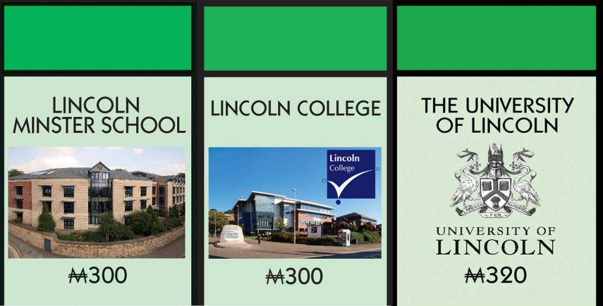 The three educational institutions set to be on the upcoming Lincoln board.
