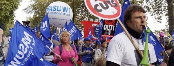 Teachers march in London. Photo: NASUWT