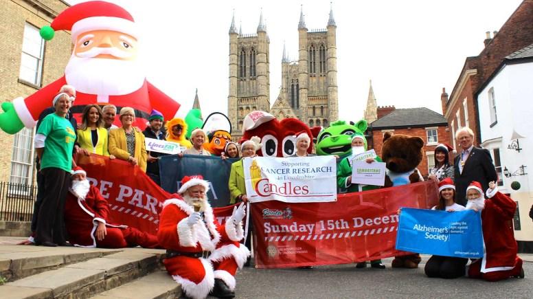 The 2013 Santa Fun Run has a new route through Lincoln Castle.