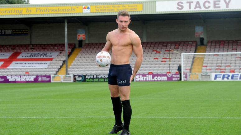 Alex Thompson posing at Lincoln City Football Club. Photo: Stuart Wilde