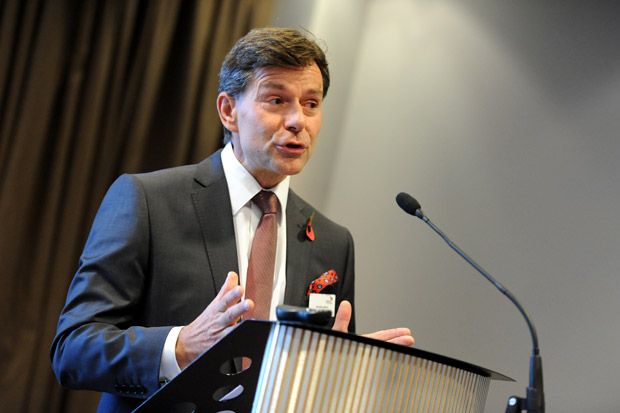 Roland Aurich, Chief Executive of Siemens PLC, was the keynote speaker at the GLLEP summit in Lincoln. Photo: Stuart Wilde