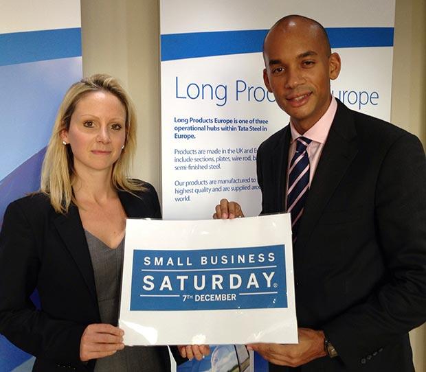 Lucy Rigby with Shadow Business Secretary Chuka Umunna