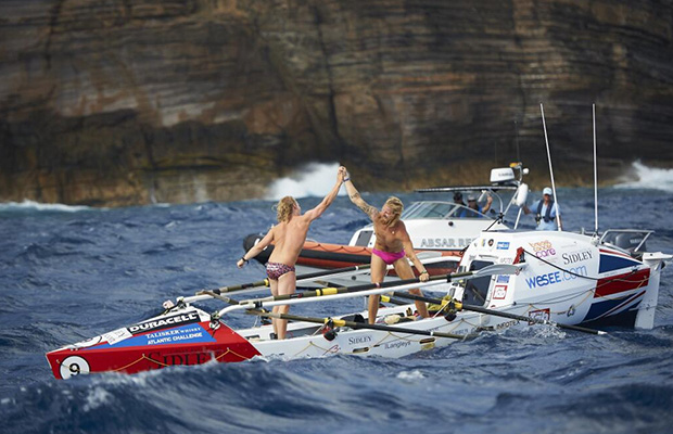 The pair became the youngest rowers ever to complete the challenge. Photo: Atlantic Challenge