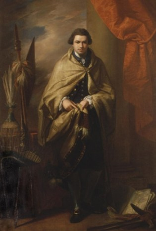 A great endeavour: This portrait of Joseph Banks, showing the explorer surrounded by artefacts he brought back to England, is to be the focus of an exhibition at The Collection in Lincoln. Photo: LCC