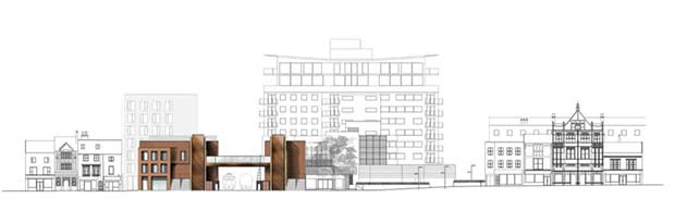 A map of a the bridge and High Street.  Photo: Stem Architects