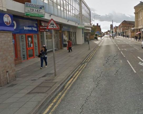 Lower Lincoln High Street, between Lincoln Magistrates Court and Tentercroft Street. Photo: Google Street View