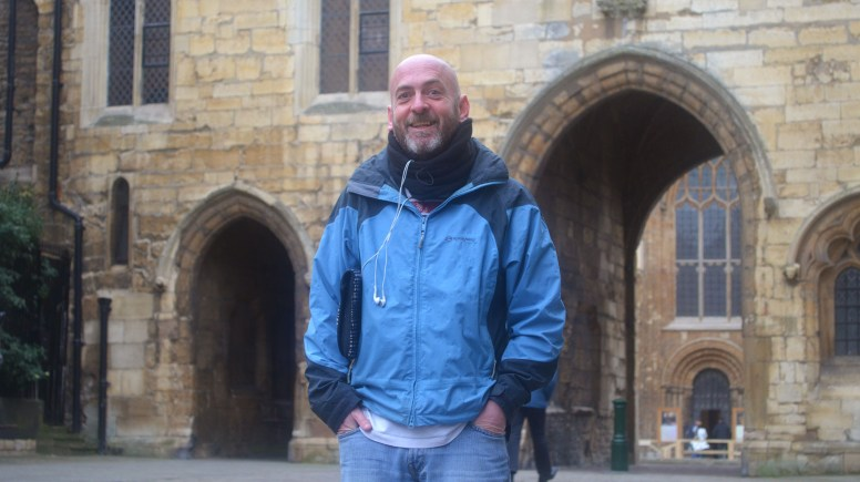 Colm Farrell made a stop in Lincoln along his 5,000 mile fundraising journey for Suicide awareness. Photo: Emily Norton