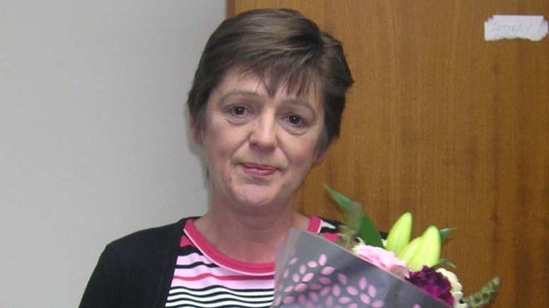 Marie Pattison celebrating 30 years service ere at St Barnabas Lincolnshire Hospice. Photo: St Barnabas