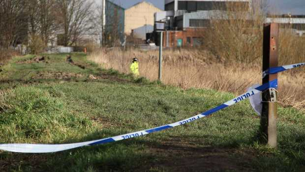 Police sealed off the area around the river bank on February 9, 2014. Photo: E Norton for The Lincolnite