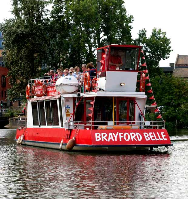 The Brayford Belle pleasure boat in Lincoln