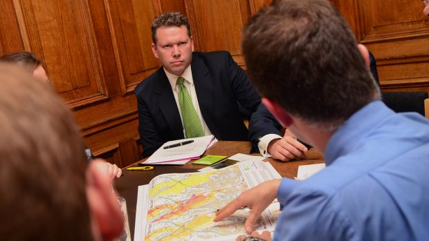 Lincoln MP Karl McCartney hosted the DEFRA minister visit in the city. Photo: Steve  Smailes for The Lincolnite
