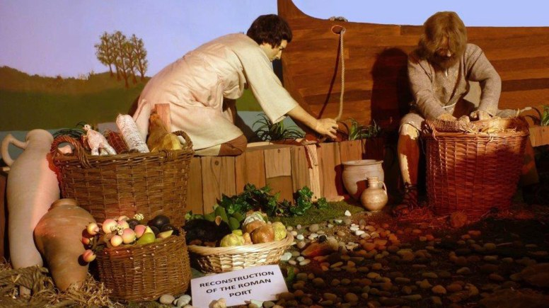 New display at the underground Posterngate bring Roman Lincoln to life. Photo: LCC
