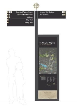 The designs for the new signs in Lincoln. Image: Lincoln BIG