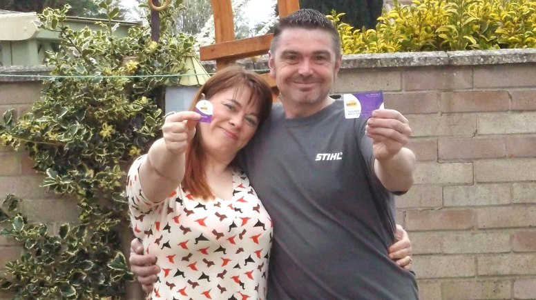 Karen O'Callaghan and her fiance Matthew from Lincoln are in with a chance of becoming the Nectar Savvy Family of 2014.