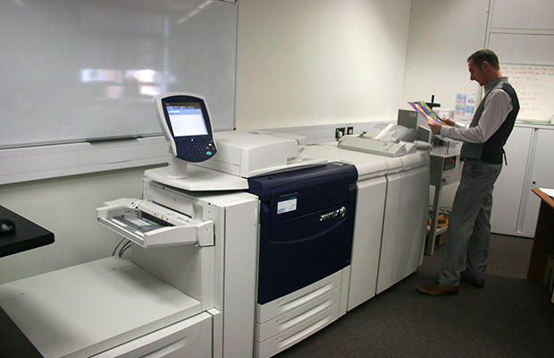 The company were able to invest in a new printer and guillotine thanks to the funding.