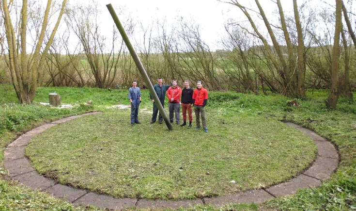 The team at the Lincoln branch of the Sustrans charity recovered the sundial from being lost in the weeds.