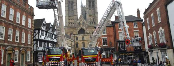 The new aerial platforms for Lincolnshire Fire and Rescue.
