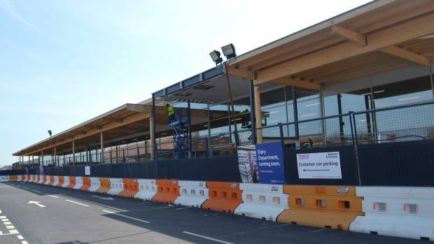 The larger building for the new Tesco in uphill Lincoln.