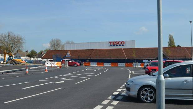 The old Tesco building will make way for more customer parking.