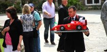A red Ferrari tribute for Ethan, who loved racing.