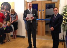 Stephen Phillips, MP for Sleaford and North Hykeham, officially opened the Branston Community Academy main hall.