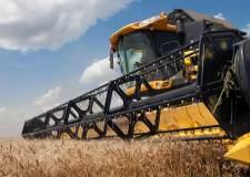 A farming combine in Lincolnshire.