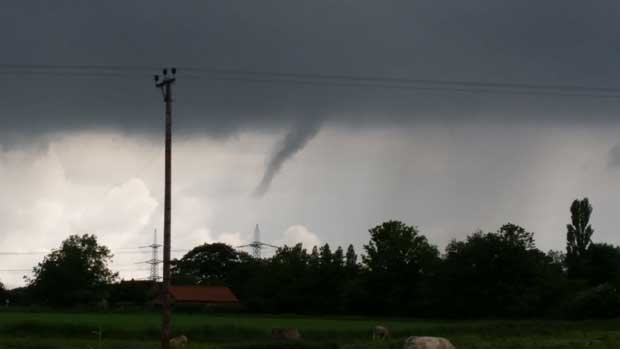 Funnel clouds in Alkborough , North Lincolnshire on June 4. Photo: Lorna Staves