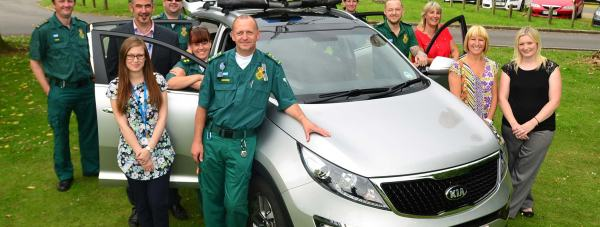 Paramedics and mental health nurses with the new street triage pilot car in Lincoln. Photo: Steve Smailes/The Lincolnite