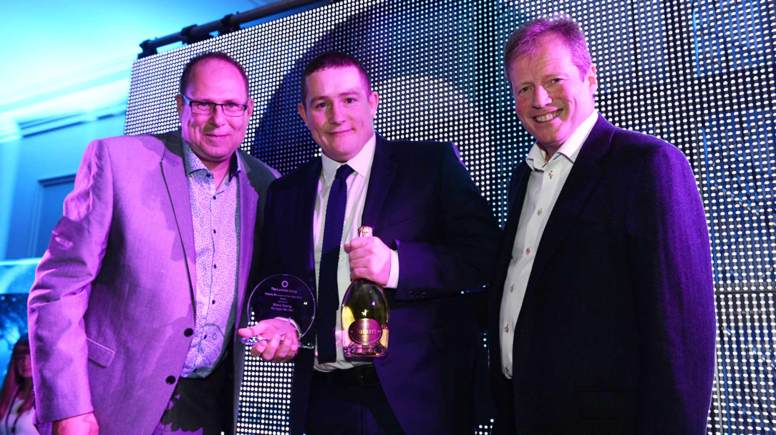 (L-R) The Luminar Group's northern regional director Tony Gorbert, Northern Deputy Manager of the Year, Steve Young and chief executive Peter Marks.
