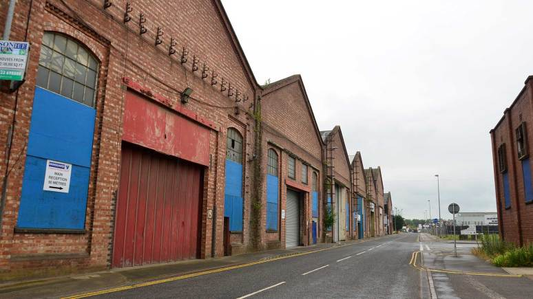 Current buildings along Beevor Street, neighbours of the Joseph Banks Laboratories. Photo: Steve Smailes for The Lincolnite